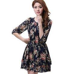 Mythmax - Floral Lace Dress