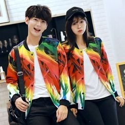 Azure - Couple Matching Printed Baseball Jacket