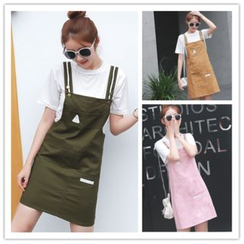 QZ Lady - Set : Short-Sleeve T-shirt + Pinafore