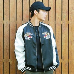 BYMONO - Tiger Embroidered Baseball Jacket