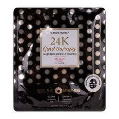 Etude House - 24K  Gold Therapy Black Pearl Mask - Brightening