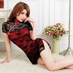 Sexy Palace - 蕾丝短款旗袍