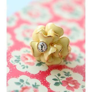 Petit et Belle - Rhinestone Flower Ring