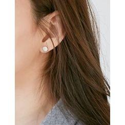 FROMBEGINNING - Circle Stud Earrings