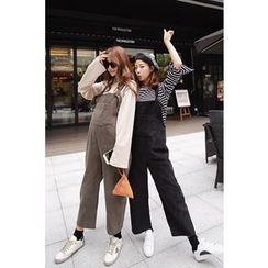 Momnuri - Maternity Pocket-Front Jumper Pants