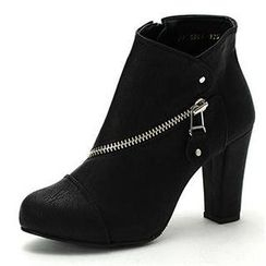 MODELSIS - Zip-Detail Ankle Boots