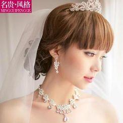 名貴風格 - 水鑽新娘皇冠