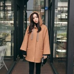 Envy Look - Snap-Button Hooded Coat