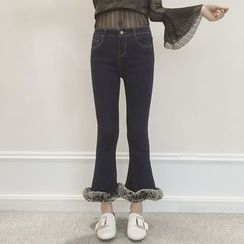 ever after - Furry Cuff Boot Cut Jeans