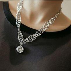 Ticoo - Jeweled Chunky Necklace