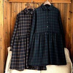 tete - 长袖格子连衣裙