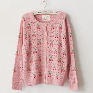 11.STREET - Cherry Knit Cardigan