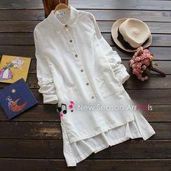 YOYO - Asymmetric Hem Long Shirt