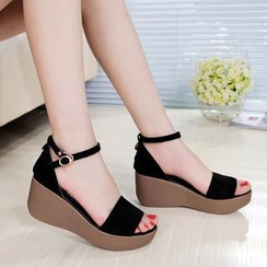 Hannah - Genuine Leather Platform Sandals