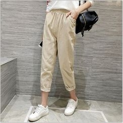 Bloombloom - Cropped Corduroy Pants
