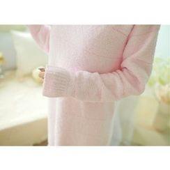 Snorie - Striped Long Sleeve Pajama Dress