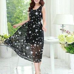 Fashion Street - Star Printed Sleeveless Dress