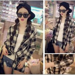 Whitney's Shop - Oversized Plaid Shirt