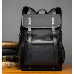 TESU - Faux Leather Panel Backpack