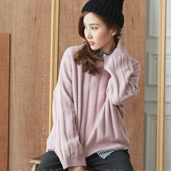 BAIMOMO - Long-Sleeve Loose-Fit Sweater