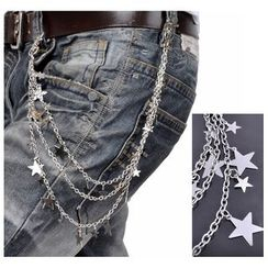 Trend Cool - Star Charm Multi-Chain Long Keychain