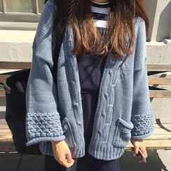 monroll - Cable Knit Cardigan