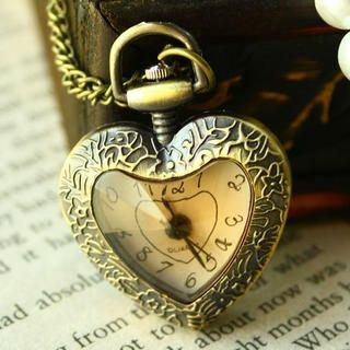 Miss Girl - Heart-Shaped Pocket Watch