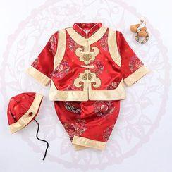 OnCloud - 兒童套裝: 印花外套 + 長褲 + 帽子