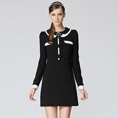 O.SA - Contrast-Trim Bow-Accent Dress