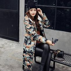 Romantica - Camouflage Hooded Puffer Coat