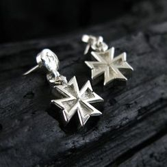 Sterlingworth - Hand Made Cross Charm Single Earring