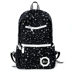Yiku - Contrast Trim Canvas Backpack