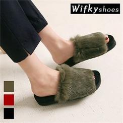 Wifky - Faux-Fur Platform Mules