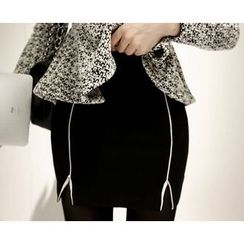 Marlangrouge - Contrast-Trim Pencil Skirt