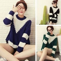 Shimi - Color Block Chunky Sweater