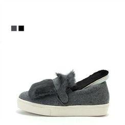MODELSIS - Faux-Fur Slip-Ons