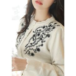 MyFiona - Scallop-Edge Embroidered Cardigan