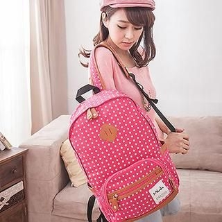 B.B. HOUSE - Star-Print Canvas Backpack