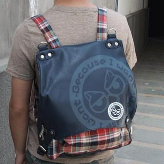 MURATI - Plaid-Panel Buckled Backpack