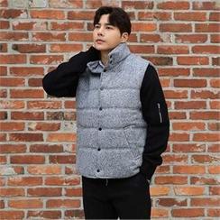 BYMONO - Mélange Wool Blend Padded Vest