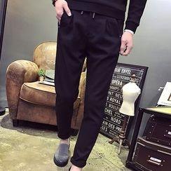 LIBIN - Drawstring Slim Fit Pants