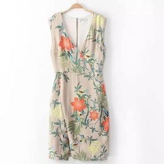 JVL - Sleeveless Flower-Print Dress