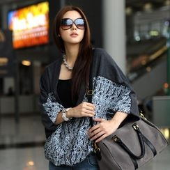 SO Central - Batwing Sleeve Patterned Cardigan