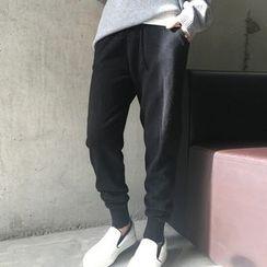 Ashlee - Drawstring Knit Jogger Pants