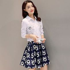 Maine - 套裝:刺繡襯衫 + 印花裙