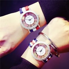 Tacka Watches - Striped Canvas Strap Watch