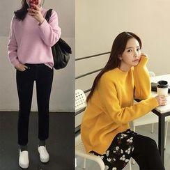 Seoul Fashion - Pointelle Knit Top