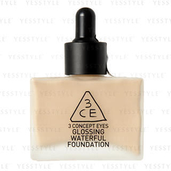 3 CONCEPT EYES - Glossing Waterful Foundation SPF 15 PA+ (Natural Ivory)