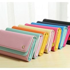 Hagodate - Color Panel Long Wallet