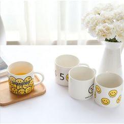 Wild Peach - Smiley Print Mug